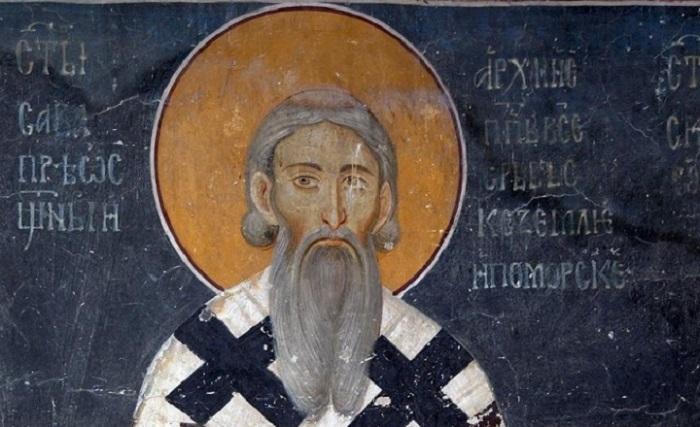 Sveti-Sava-Rastko-Nemanjić-freska-u-Kraljevoj-crkvi-u-Studenici2